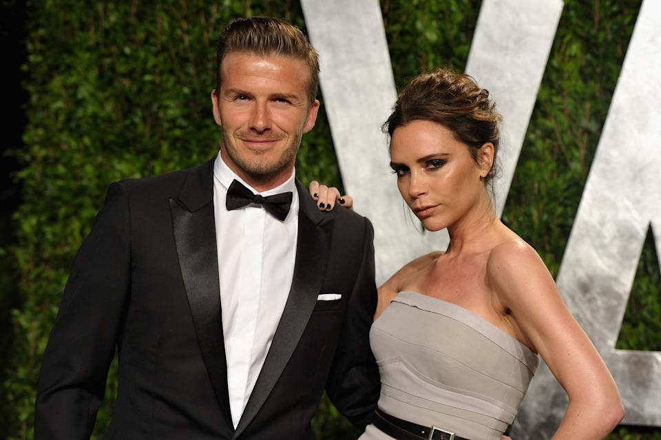 David and Victoria Beckham are celebrating their 20th wedding anniversary today [Photo: Getty]