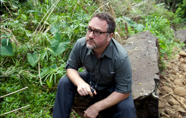 Colin Trevorrow on set of <i>Jurassic World</i> (Photo: Universal Pictures)