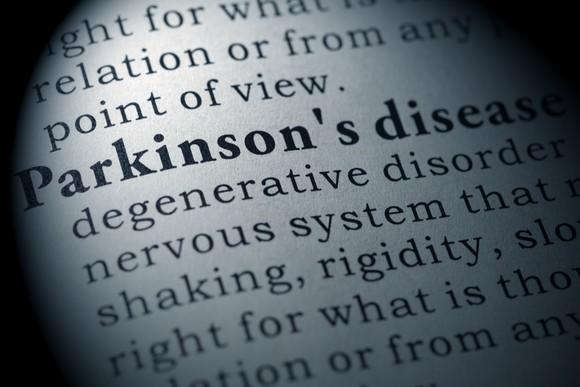 A dictionary open to the definition of Parkinson's disease