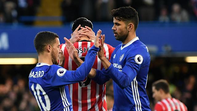 Eden Hazard opened the scoring and, although Oriol Romeu equalised, Gary Cahill and Diego Costa saw Chelsea to victory over Southampton.