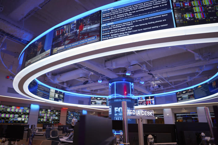 The Fox News newsroom in New York, April 17, 2019. (Ryan Jenq/The New York Times)