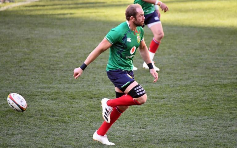Quick return: British and Irish Lions captain Alun Wyn Jones takes part in training on Friday ahead of the first Test against South Africa in Cape Town