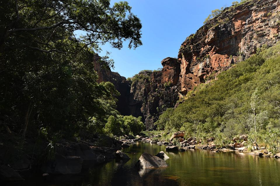 Jim Jim Falls in the World Heritage listed Kakadu National Park, Darwin, on July 3, 2015.