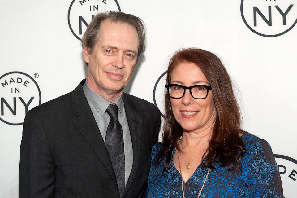 "Honoree Steve Buscemi (L) and wife Jo Andres attend the ""Made In NY"" Awards Ceremony at Weylin B. Seymour's on November 10, 2014 in Brooklyn, New York.  (Photo by D Dipasupil/FilmMagic)"