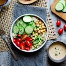 <p>It seems grain bowls have as many variations as there are stars in the sky, and there is no wrong way to build one! But we prefer to keep things classic and simple with hummus, quinoa, avocado and loads of veggies!</p>