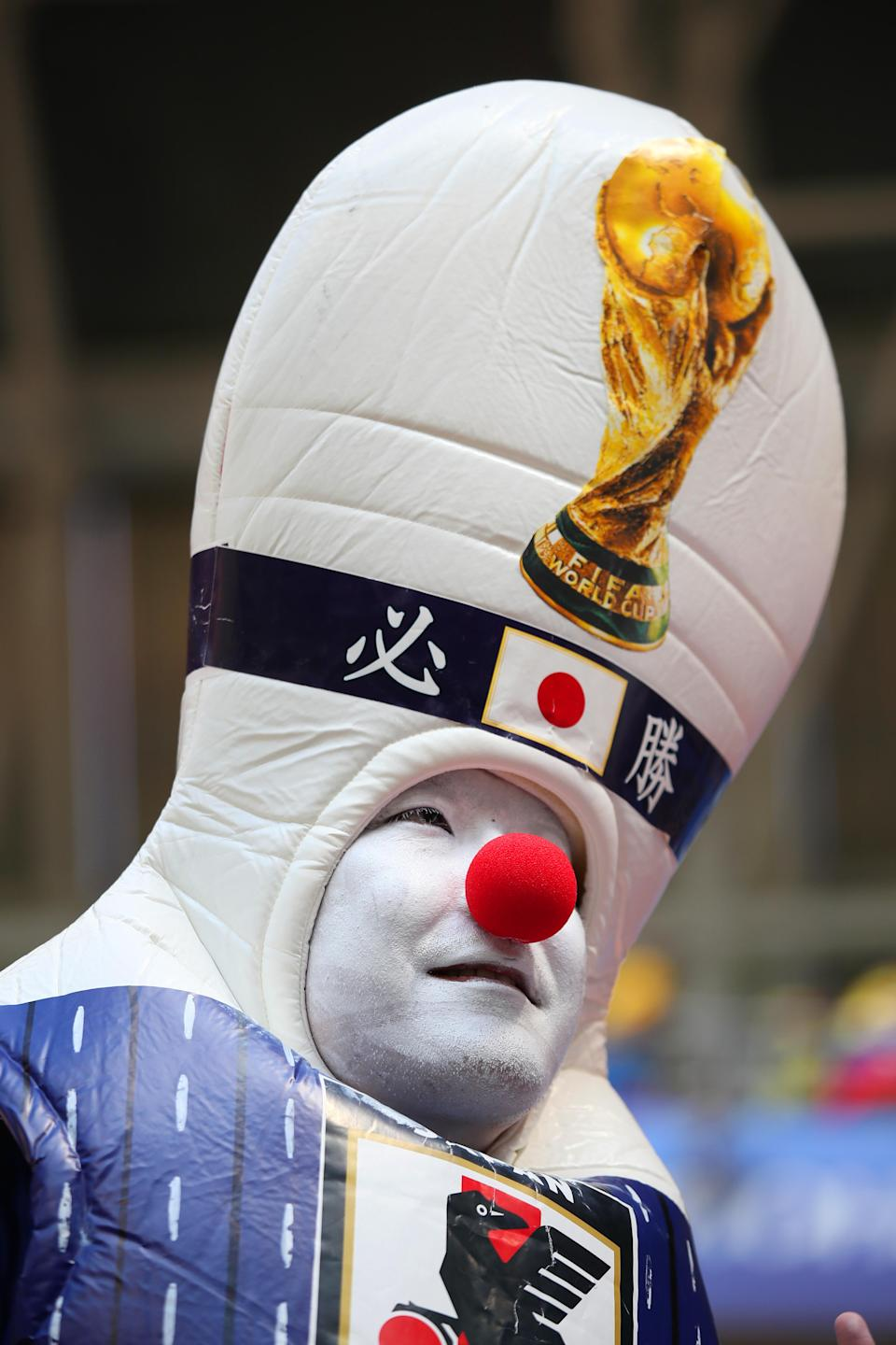 <p>A Japanese fan makes a strong case for 'Best fancy dress' with this spectacular effort. </p>