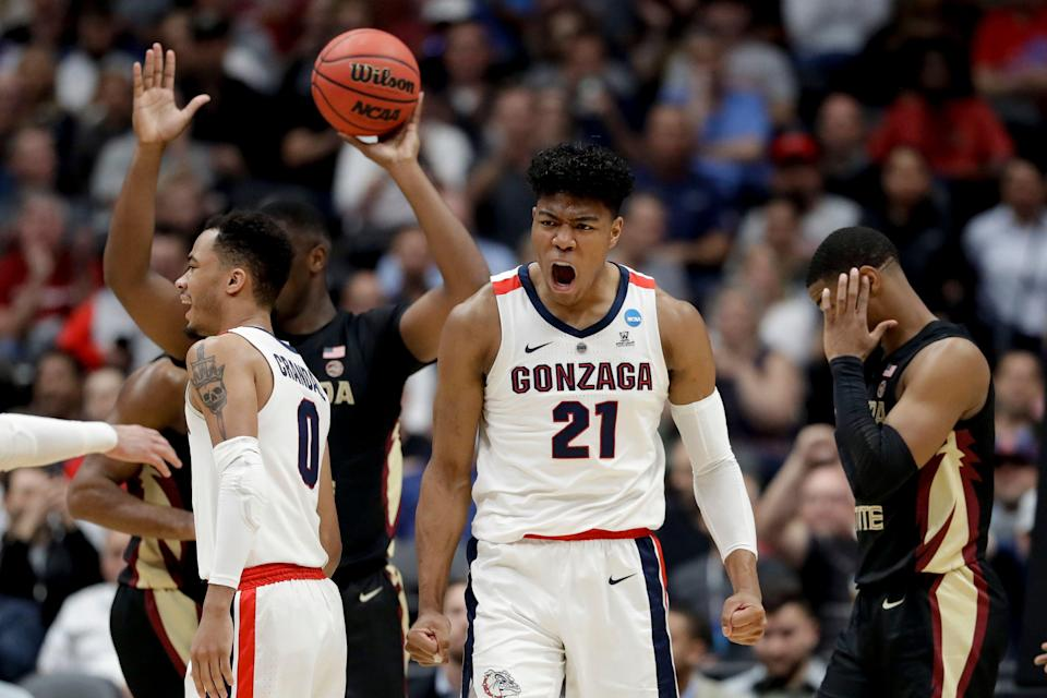A year after losing in the Sweet 16 to FSU, Rui Hachimura and Gonzaga returned the favor to advance to the West regional final. (AP)