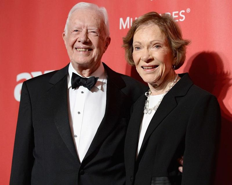 From left: Jimmy Carter and wife Rosalynn Carter in 2015