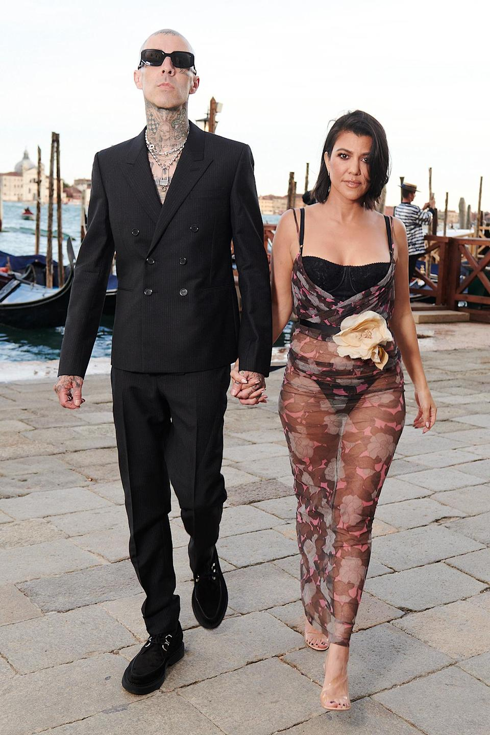"""<p>The couple <a href=""""https://people.com/style/all-the-stars-at-dolce-and-gabbana-alta-moda-show/"""" rel=""""nofollow noopener"""" target=""""_blank"""" data-ylk=""""slk:got glammed up"""" class=""""link rapid-noclick-resp"""">got glammed up</a> for the star-studded Dolce & Gabbana Alta Moda Women's Show in Venice on Aug. 29.</p>"""