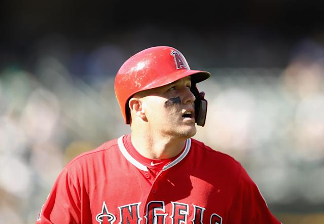 Mike Trout got off to a slower start than usual in 2018. (Getty Images)
