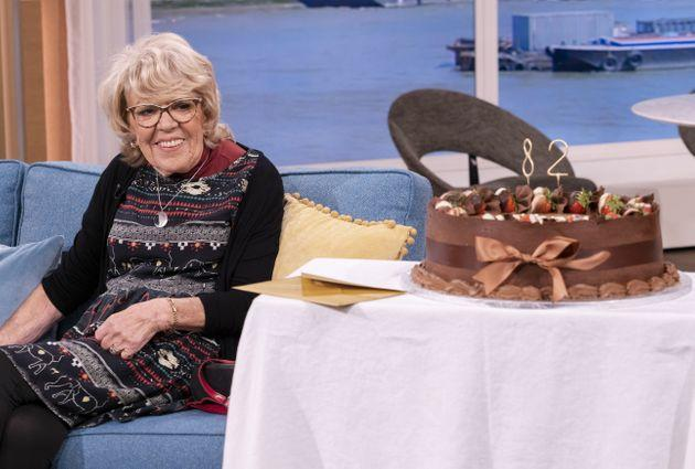 Iris was presented with an enormous chocolate cake after her This Morning interview (Photo: Ken McKay/ITV/Shutterstock)