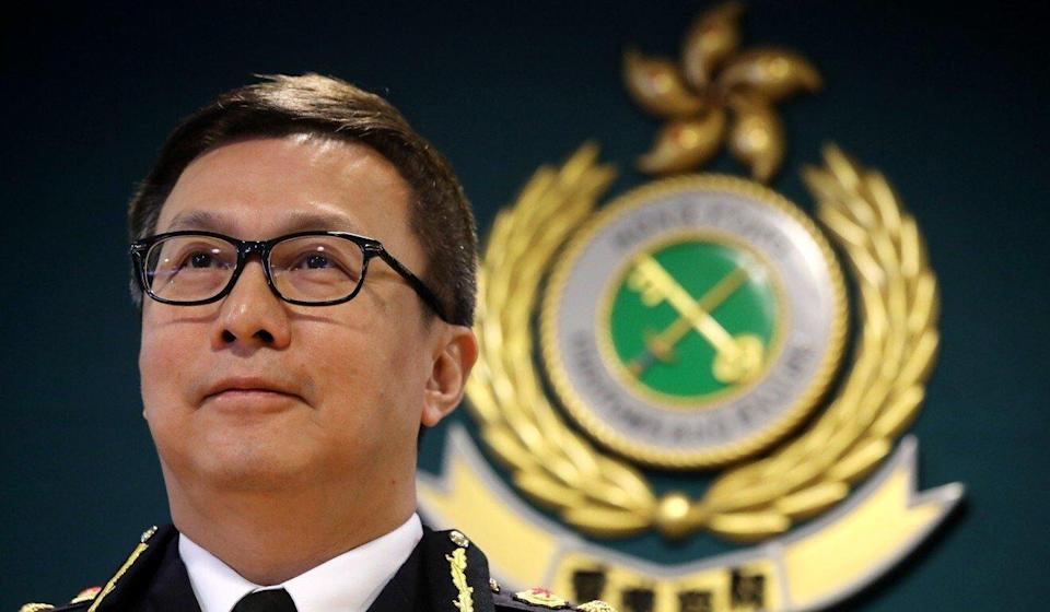 Customs chief Hermes Tang is bound by Civil Service Bureau regulations against accepting 'lavish, or unreasonably generous or frequent' entertainment. Photo: Dickson Lee