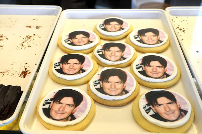 An L.A. bakery offered these Charlie Sheen cookies — which sold out — in March 2011. (Photo: Axel Koester/Corbis via Getty Images)