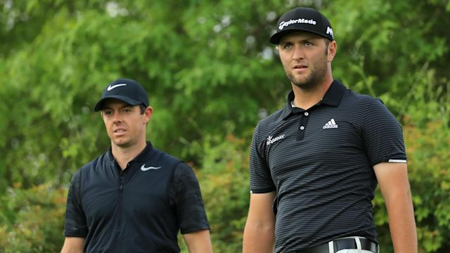 Rory McIlroy and Jon Rahm make up two-thirds of a glamour Masters group, while world number one Dustin Johnson will play with Bubba Watson.