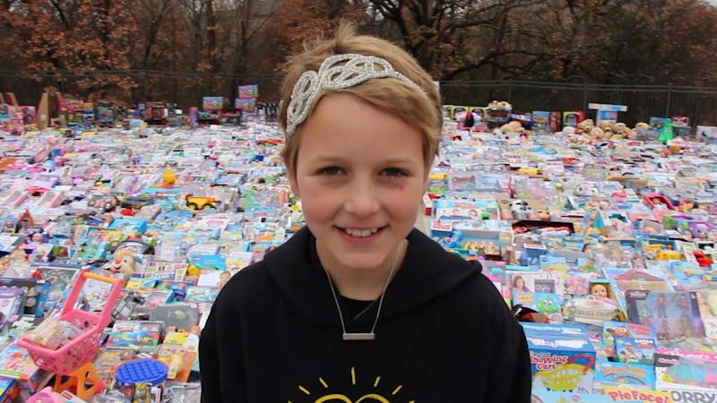 10-Year-Old Cancer Survivor Donates More Than 10,000 Toys to Charity