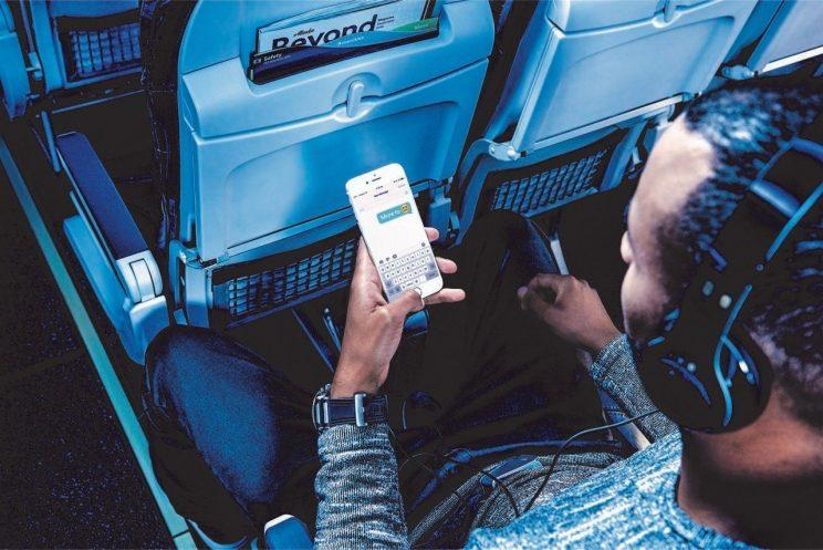 Sending messages in-flight is now free on Alaska Airlines. (Alaska Airlines)