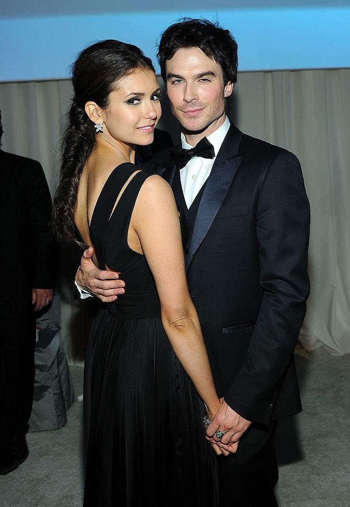 "<p>""Vampire Diaries"" fans were ecstatic when they found out that Elena chose Damon in the end. The PDA-heavy pair were notorious for flaunting their love at award shows and music festivals until their eventual split in 2013. <i>(Larry Busacca/Getty Images for EJAF)</i><br></p>"