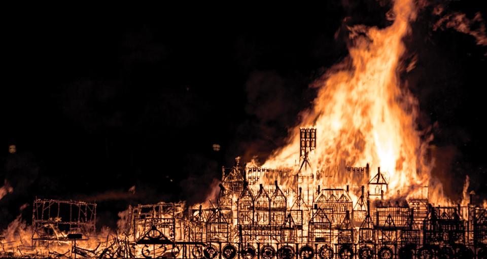 The anniversary of the 1666 great fire of London