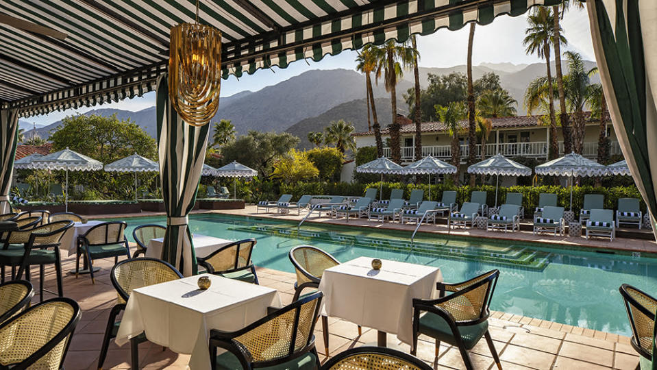 A poolside view of the mountains at The Colony Palms. - Credit: Jim Bartsch