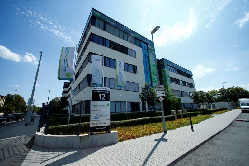 FILE PHOTO: The headquarters of biopharmaceutical company BioNTech are seen in Mainz