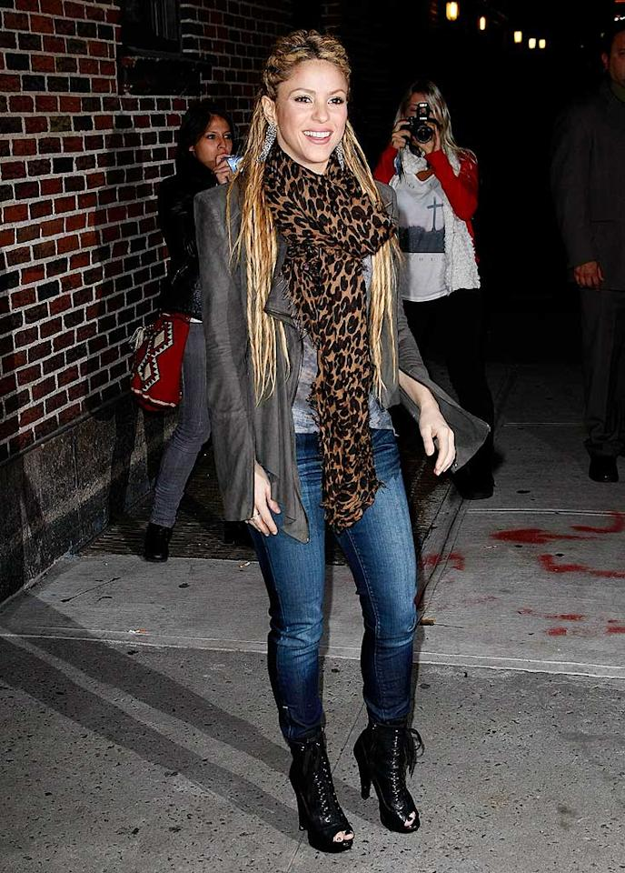 """Shakira was among those lauding Swift's """"SNL"""" performance, even though Swift spoofed the Colombian beauty on the show. """"I feel flattered,"""" Shakira said, calling the skit """"really, really funny."""" Jeffrey Ufberg/<a href=""""http://www.wireimage.com"""" target=""""new"""">WireImage.com</a> - November 10, 2009"""