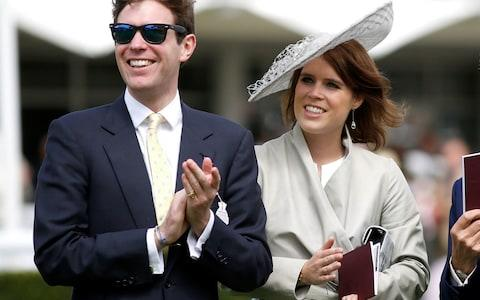 Eugenie and Jack Brooksbank (L) at day three of the Qatar Goodwood Festival at Goodwood Racecourse on July 30, 2015 - Credit:  Tristan Fewings/Getty Images Europe