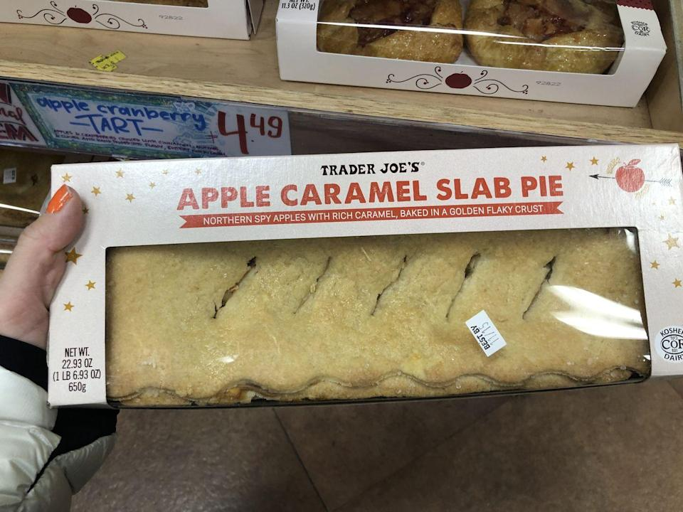 <p>Slab pie is a total game-changer in that it's actually easy to cut. Also, it has crust on both sides. Truly amazing. </p>