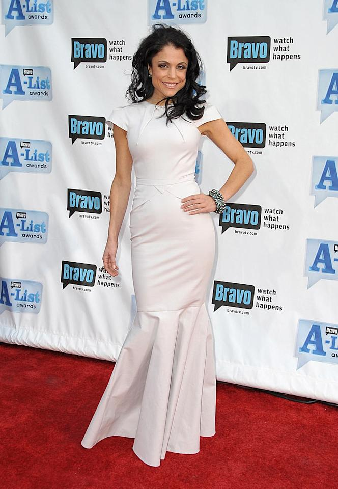 "The wind wreaked havoc with Bethenny Frankel's 'do, but that didn't stop the ""Real Housewife"" from flaunting her flawless frame in a dove gray Roland Mouret gown at the 2nd Annual Bravo A-List Awards. Jordan Strauss/<a href=""http://www.wireimage.com"" target=""new"">WireImage.com</a> - April 5, 2009"
