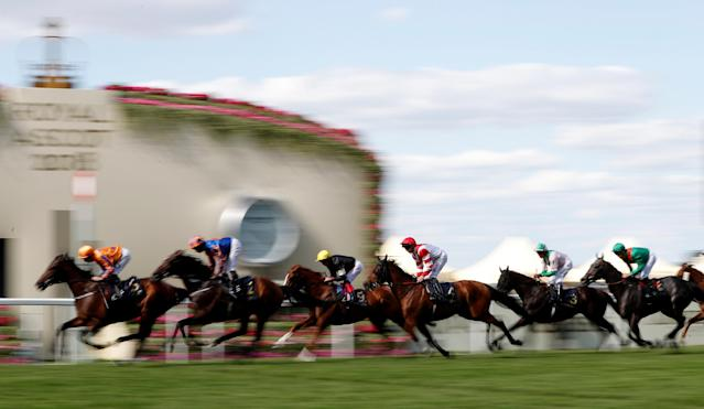 Horse Racing - Royal Ascot - Ascot Racecourse, Ascot, Britain - June 21, 2018 General view during the 4.20 Gold Cup Action Images via Reuters/Paul Childs