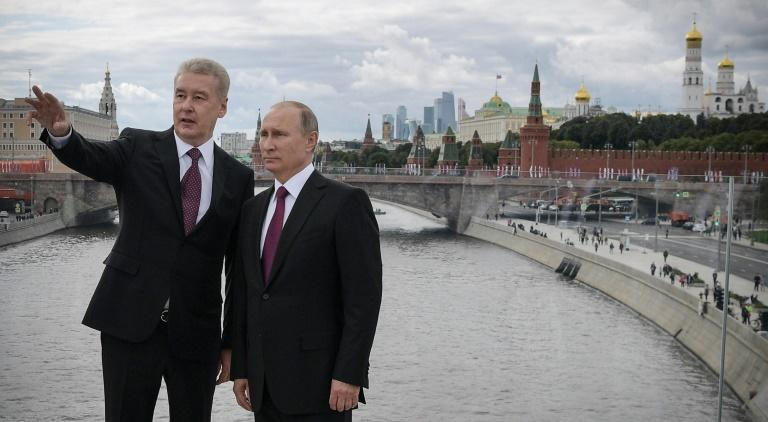 Sobyanin (L), a close ally of Putin (R), has been mayor of Moscow since 2010