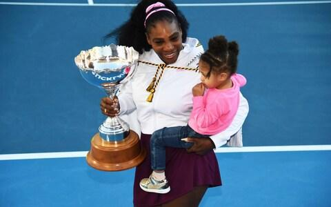 Serena Williams won her first title since becoming a mother in Auckland in the build up to the Australian Open - Credit: AP