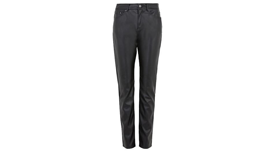Sienna Faux Leather Straight Leg Trousers