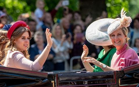 Sophie, Countess of Wessex (R) and Princess Beatrice - Credit: Mark Cuthbert/UK Press