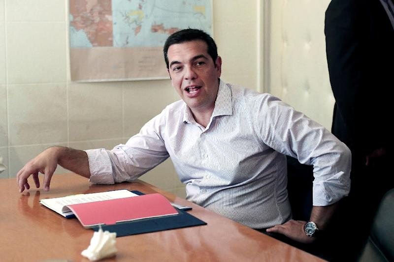 The GDP figures came as a rare ray of light for embattled Greek Prime Minister Alexis Tsipras (AFP Photo/Angelos Tzortzinis)