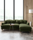 """<p>With such strong ties to nature, green tends to be a calming and relaxing colour, making it the ideal choice for a sofa. Whilst crisp apple green shades sit comfortably in a country cottage setting, forest green creates a moodier and more romantic feel. </p><p>Pictured: <a href=""""https://go.redirectingat.com?id=127X1599956&url=https%3A%2F%2Fwww.swooneditions.com%2Fholtonrcorner&sref=https%3A%2F%2Fwww.countryliving.com%2Fuk%2Fhomes-interiors%2Finteriors%2Fg37335592%2Fmost-popular-sofa-colours%2F"""" rel=""""nofollow noopener"""" target=""""_blank"""" data-ylk=""""slk:Holton Sofa at Swoon"""" class=""""link rapid-noclick-resp"""">Holton Sofa at Swoon</a></p>"""