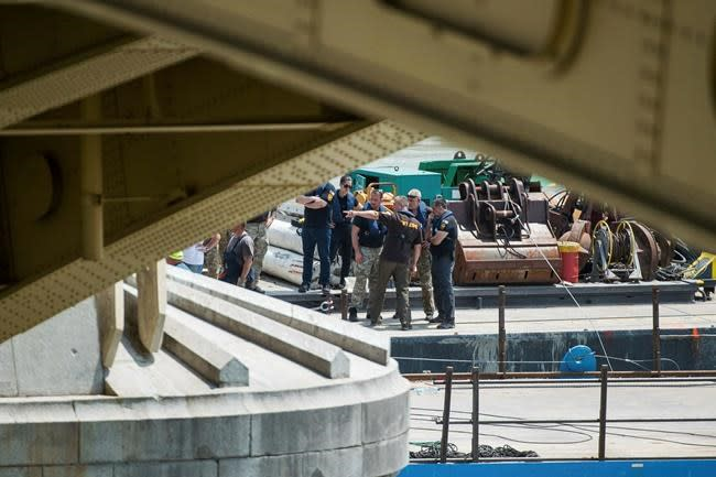 Four bodies recovered as Budapest tourist boat is lifted out of Danube