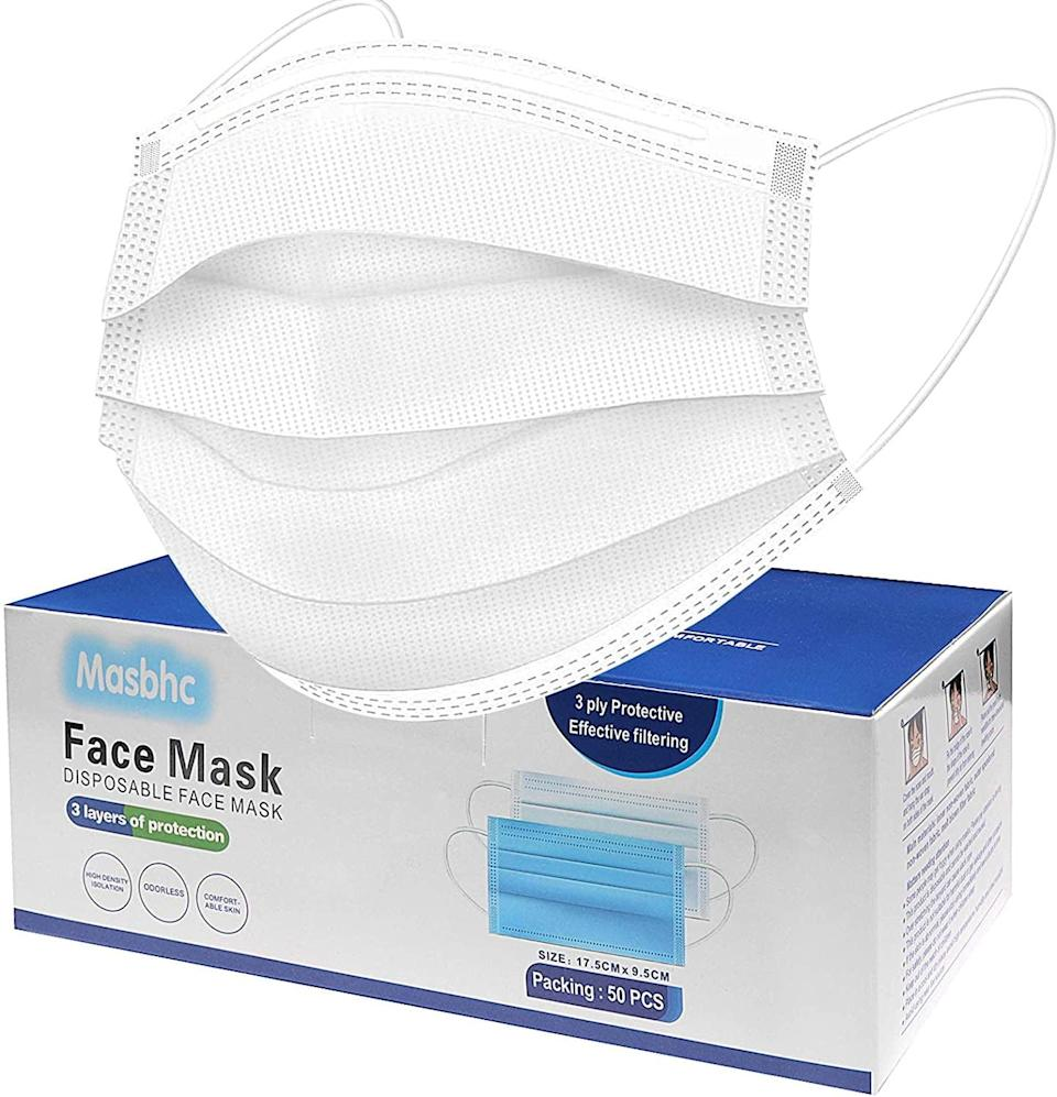 <p>Stock up on these <span>Disposable Face Mask Dust Particle 3-Layer Design Mask</span> ($5, originally $8) and stay protected all month long!</p>