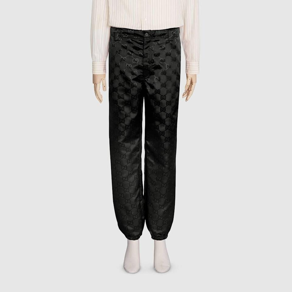 "<p><a href=""https://www.popsugar.com/buy/Gucci-Off-Grid-Pant-Gaiter-584680?p_name=Gucci%20Off%20the%20Grid%20Pant%20With%20Gaiter&retailer=gucci.com&pid=584680&price=1%2C100&evar1=fab%3Aus&evar9=47573194&evar98=https%3A%2F%2Fwww.popsugar.com%2Ffashion%2Fphoto-gallery%2F47573194%2Fimage%2F47573304%2FGucci-Off-Grid-Pant-With-Gaiter&list1=gucci%2Ceco%20fashion&prop13=mobile&pdata=1"" class=""link rapid-noclick-resp"" rel=""nofollow noopener"" target=""_blank"" data-ylk=""slk:Gucci Off the Grid Pant With Gaiter"">Gucci Off the Grid Pant With Gaiter</a> ($1,100)</p>"