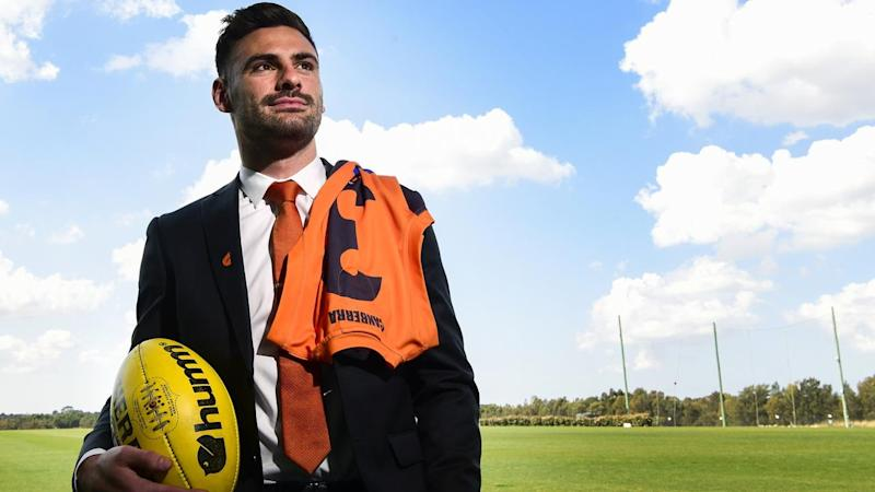 Stephen Coniglio re-signed with AFL club GWS in August and has now been promoted to captain