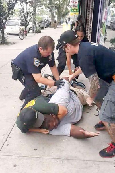PHOTO: A 400 pound asthmatic Eric Garner died while being arrested by police in Staten Island. (New York Daily News/NY Daily News via Getty Images)