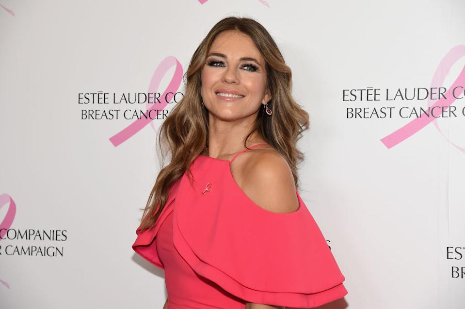 Elizabeth Hurley is quarantining with her family during the coronavirus pandemic. (Photo: Kevin Mazur/Getty Images for the Estee Lauder Companies)