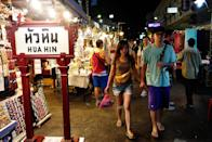 <b>Hua Hin walking street</b> <br><p><b>For your souvenirs and cheap buys</b></p><br><p>Night markets are synonymous with Thailand. At Hua Hin Night Market (or Walking Street as the locals call it), you can expect the same shopper's buzz and great buys. To find it, just locate the town's clock tower and the market is right opposite it. Besides, the bright lights and throngs of tourists will give its location away. It is also about five minutes walking distance from the railway station.</p>
