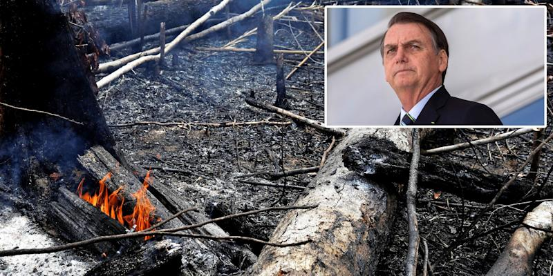 Amazon rainforest fire Bolsonaro