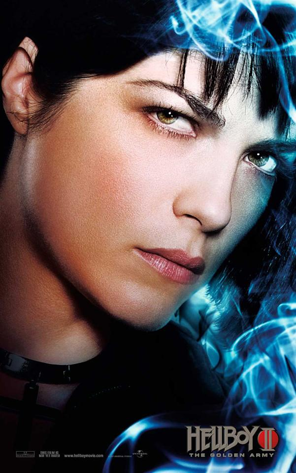 "<a href=""http://movies.yahoo.com/movie/contributor/1800018816"">Selma Blair</a> stars as Liz Sherman in Universal Pictures' <a href=""http://movies.yahoo.com/movie/1809826056/info"">Hellboy II: The Golden Army</a> - 2008"