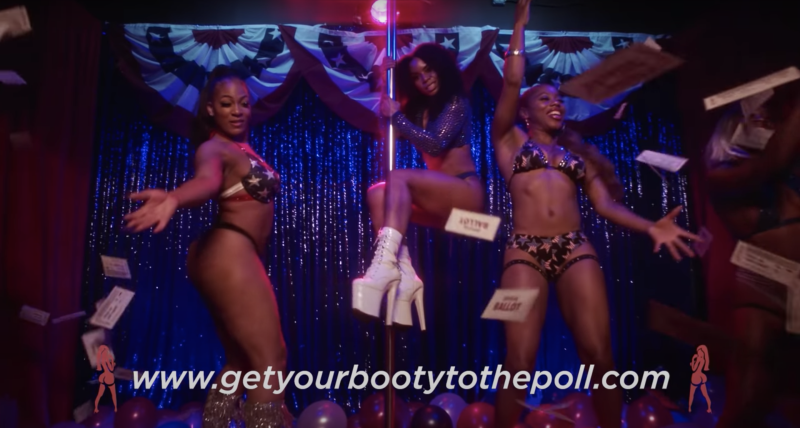 Atlanta dancers volunteer to help create a voting PSA for Get Your Booty to the Poll campaign. (Photo: YouTube)