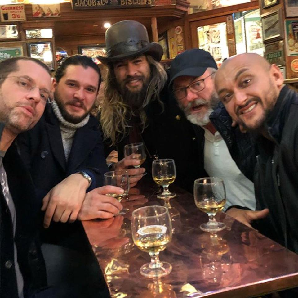 Jason Momoa Is Hanging With The GoT Cast In Belfast And