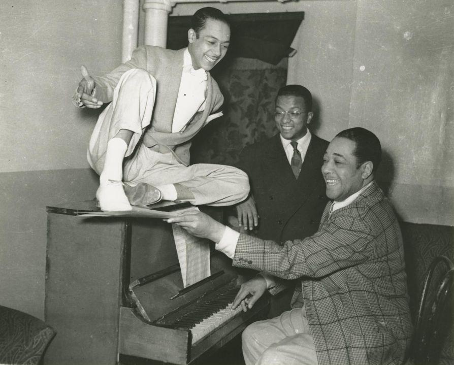 "Photographic print of Duke Ellington, Charles ""Honi"" Coles, and Billy Strayhorn —National Museum of African American History & Culture."