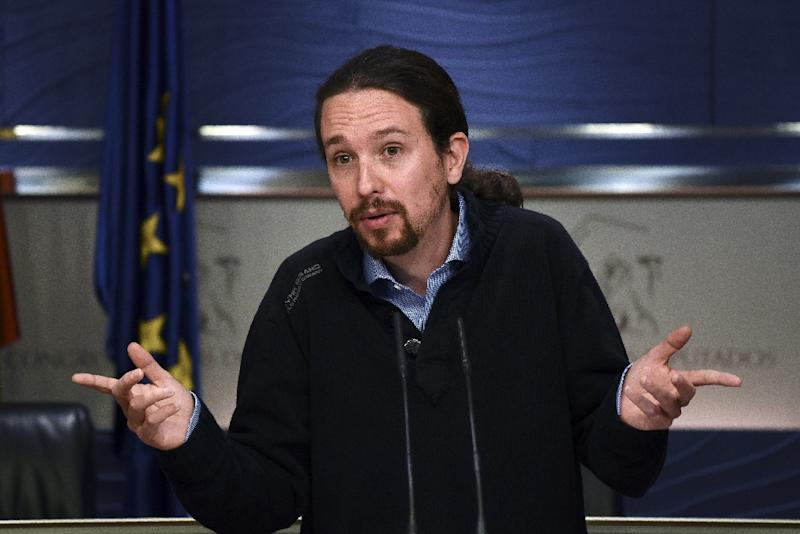 Podemos leader Pablo Iglesias has refused to enter any coalition government that includes Ciudadanos (AFP Photo/Pedro Armestre)