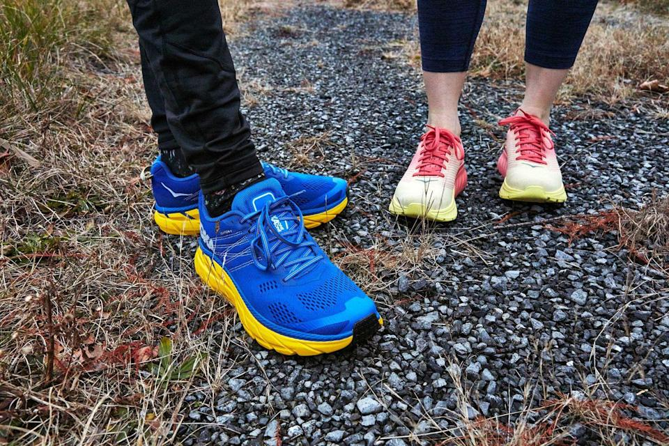 """<p>Nothing can divide the running club quicker than asking if <a href=""""https://www.runnersworld.com/gear/a19663621/best-running-shoes/"""" rel=""""nofollow noopener"""" target=""""_blank"""" data-ylk=""""slk:running shoes"""" class=""""link rapid-noclick-resp"""">running shoes</a> should be well padded or not. We have opinions and can talk for at least a half hour uninterrupted about every variation of shoe.</p>"""