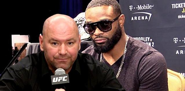 Tyron Woodley 'Pissed Off' That Dana White Berated Him Over Nate Diaz Fight